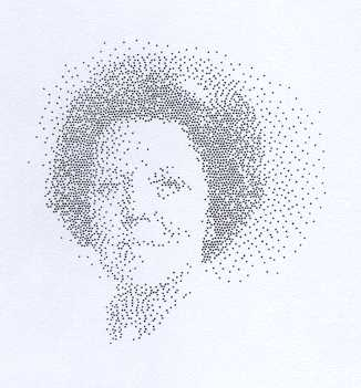 Peter Struycken Queen S Portrait Trial Pieces For Postage Stamp